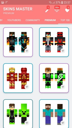 Android Skins MASTER for MINECRAFT (30 000 Skins) + Editor Screen 1