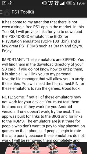 PS1 ToolKit 1.0.0 Screen 2