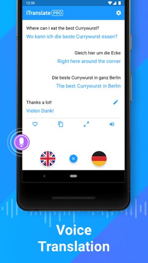 iTranslate Translator & Dictionary 5.2.9 Screen 1