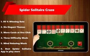 Spider Solitaire Craze 1.2 Screen 3