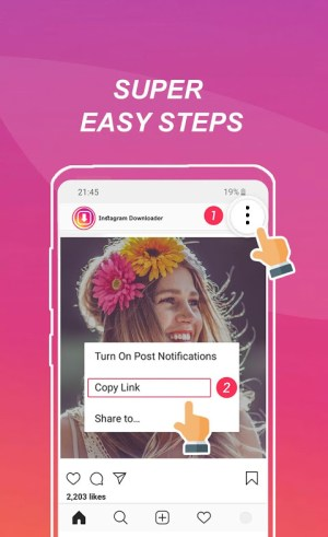 Android Photo & Video Downloader for Instagram - SaveInsta Screen 1