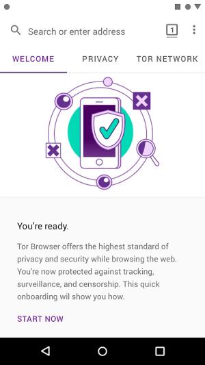 Tor Browser (Alpha) 60.7.0 Screen 1