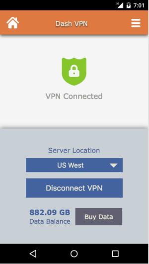 Dash VPN 3.041 Screen 2