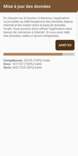 Android Pathfinder FR Screen 1