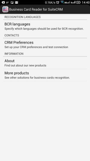 Android Business Card Reader for SuiteCRM Screen 6