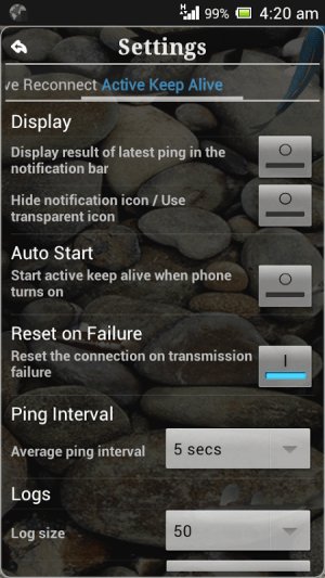 Connection Stabilizer Booster 1.9.1 Screen 3