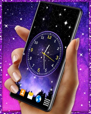 Android Night Sky Clock HD Pro 🌜 4K Live Wallpaper Themes Screen 5