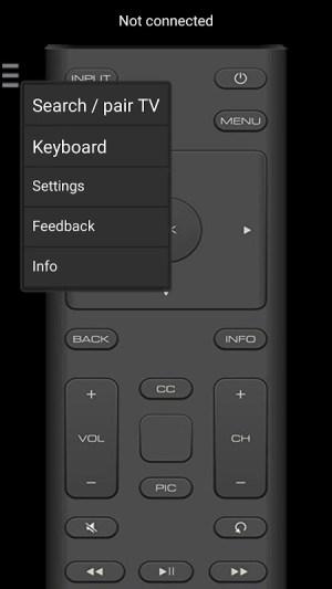 Android VizControl - TV Remote Control for Vizio TV Screen 7