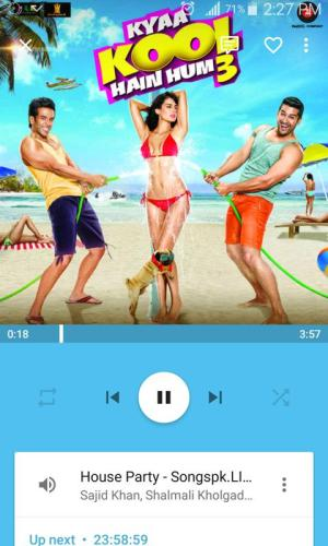 Android Media Player Screen 2