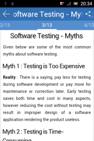 Android Learn Software Testing Screen 2