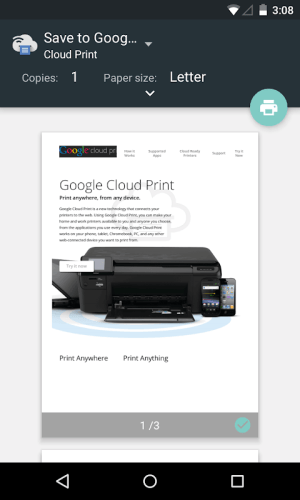 Cloud Print 1.39 Screen 1