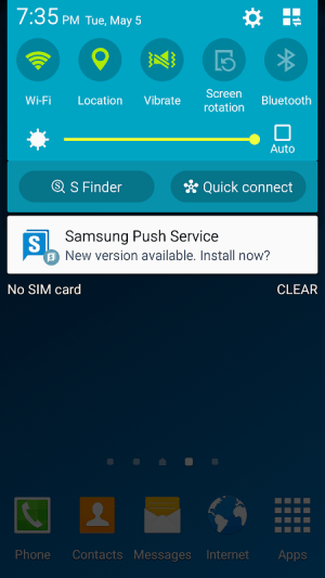 Samsung Push Service 1.6.01 Screen 1