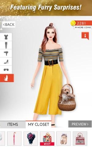 Android International Fashion Stylist: Model Design Studio Screen 3