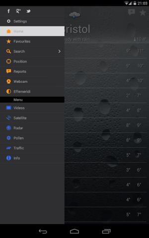 the Weather+ 2.24.2 Screen 3