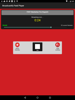 Broadcastify 1.0.9 Screen 4