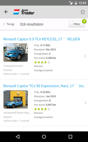 Android AutoTrader Screen 7