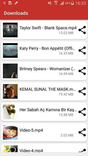 Android Youtube Downloader Screen 1