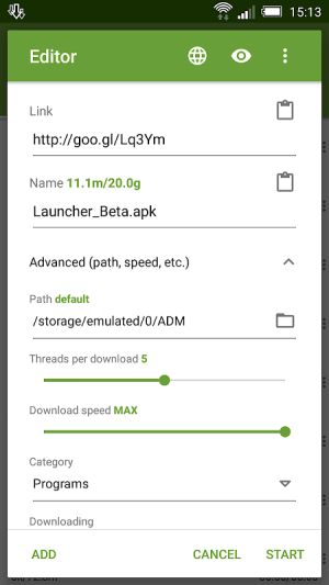 Android Advanced Download Manager Screen 9