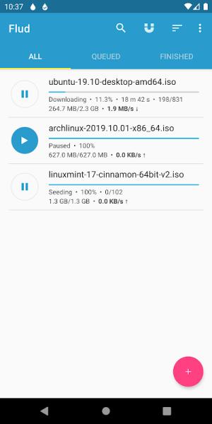 Flud - Torrent Downloader 1.6.6 Screen 11