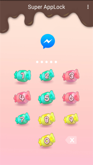 Android AppLock Theme Candy Sweety Screen 1