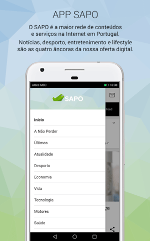 Android SAPO Mobile Screen 3