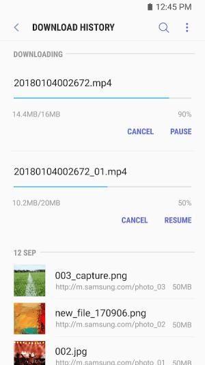 Samsung Internet Browser 7.2.10.33 Screen 7