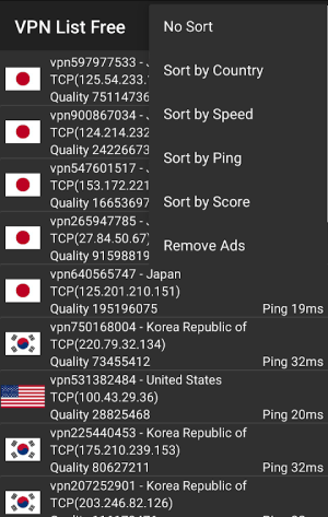 Android VPN List Free Screen 2