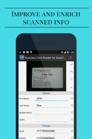 Business Card Scanner for Salesforce CRM 1.1.147c Screen 3