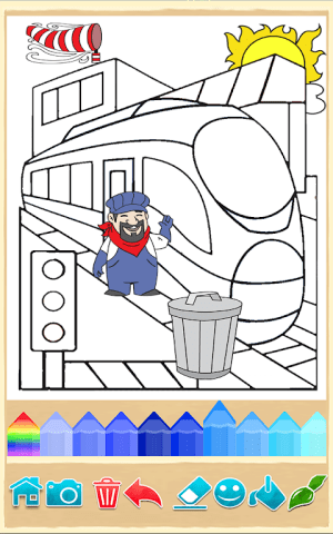Trains Coloring Game 9.7.0 Screen 2