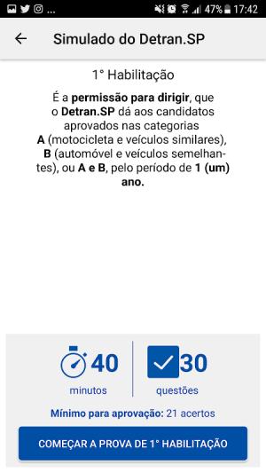 Simulado Detran-SP 2.8.6 Screen 2