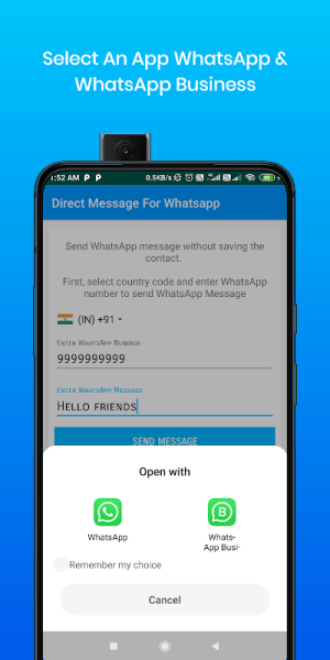 Android Direct Message For Whatsapp & WA Business Screen 4