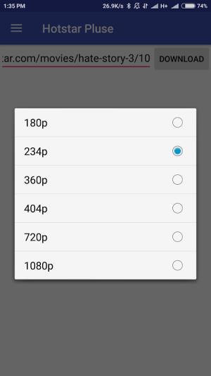 HSD - Hotstar video downloader 1.0.1 Screen 3