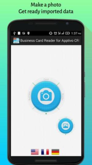 Android Apptivo CRM Business Card Reader Screen 2