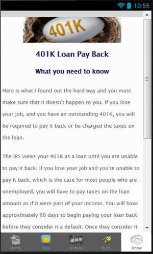 401K Loan 1.0 Screen 1