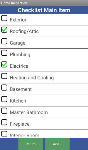 Home Inspection Checklist 3.1 Screen 7
