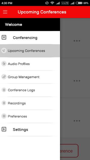 airtel Conferencing 2.2 Screen 2