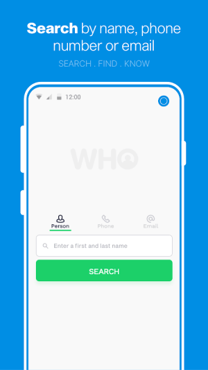 Who - People & Phone Search 3.2 Screen 2