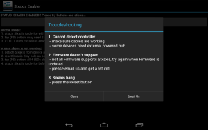 Sixaxis Enabler 1.1.0 Screen 1