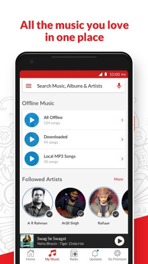 Android Wynk Music - Download & Play Songs, MP3, HelloTune Screen 1