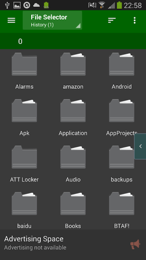 File Selector/Explorer 2.2.5 Screen 5