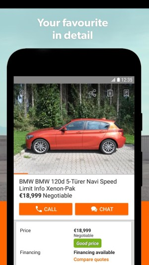 mobile.de – Germany's largest car market 7.27.1 Screen 3