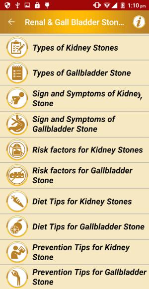 Stone Diet Renal Gall Bladder Kidney Gallbladder 2.4 Screen 1