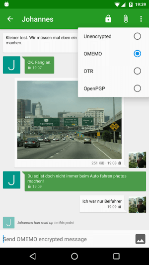 Conversations (Jabber / XMPP) 2.2.9+pcr Screen 2