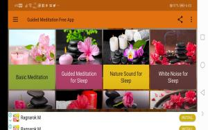 Android Guided Meditation Free App - Sleep & Relaxation Screen 3