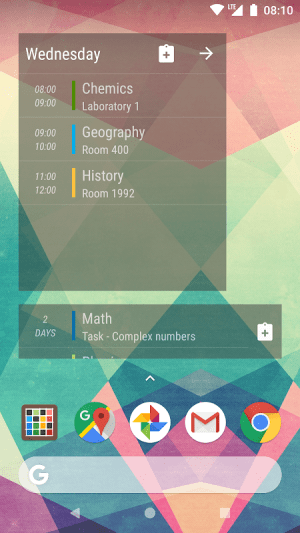 Android Timetable Screen 7