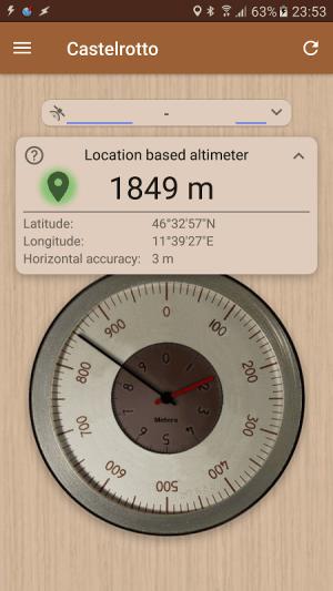 Accurate Altimeter PRO 2.0.7 beta Screen 3