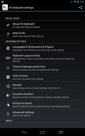 Android Kii Keyboard + Emoji Screen 8