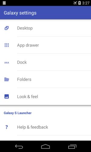 S Launcher for Galaxy TouchWiz 1.1.2 Screen 2