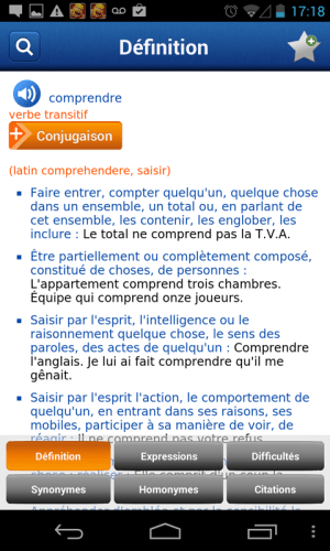 French Larousse dictionary 5.0.1 Screen 2