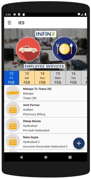 Infinx Employee Services 2.950 Screen 3